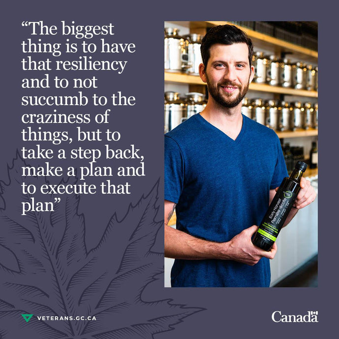 Founder Mike George chats with Veterans Affairs Canada about his transition.