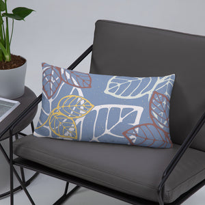 Decorative pillow with leaves on a chair - size 20x12(in)