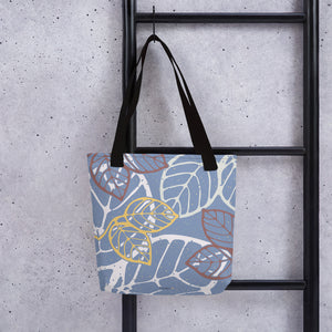 Tote bag new leaves black color