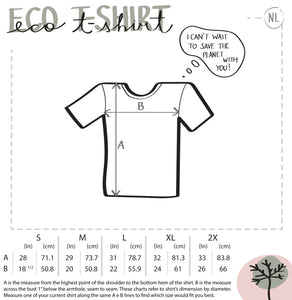 Pollinators square ladie's eco t-shirt - VARANDA DESIGN