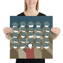 Load image into Gallery viewer, Women holding the Special Soldier art print by Varanda Design - Size 18x18 (In) at varanda.store