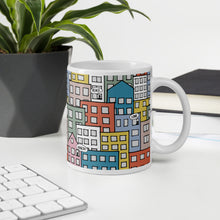 Load image into Gallery viewer, People's wishes in the city mug on an office table