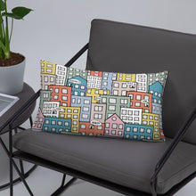 Load image into Gallery viewer, Pillow wishes in the city 20x12(In) on the sofa