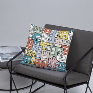 Pillow wishes in the city 18x18(In) on the sofa