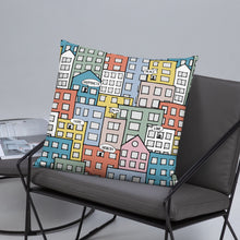 Load image into Gallery viewer, Pillow wishes in the city 22x22(In) on the sofa