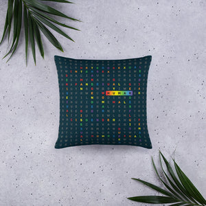 Human LGBTQ ally art by VARANDA DESIGN - pillow 18x18 (In) available on varanda.store