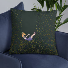 Load image into Gallery viewer, Pillow let me fall size 22x22in on a sofa
