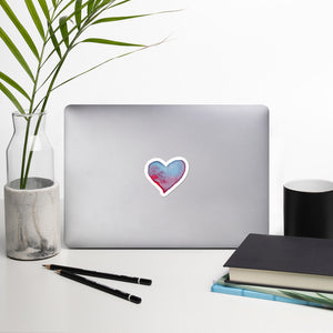 Watercolor heart stickers