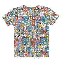 Load image into Gallery viewer, Ladies' short sleeve t-shirt wishes in the city by Varanda Design-back