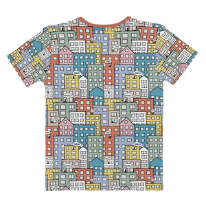 Ladies' short sleeve t-shirt wishes in the city by Varanda Design-back