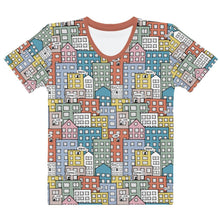Load image into Gallery viewer, Ladies' short sleeve t-shirt wishes in the city by Varanda Design-front