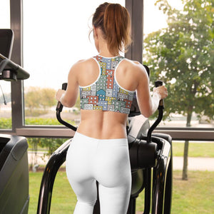 Woman working out at the gym wearing sports bra by Varanda Design