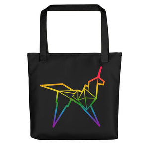 Origami unicorn color tote bag - VARANDA DESIGN