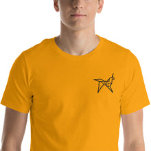 Load image into Gallery viewer, Origami unicorn men's embroidered t-shirt - VARANDA DESIGN