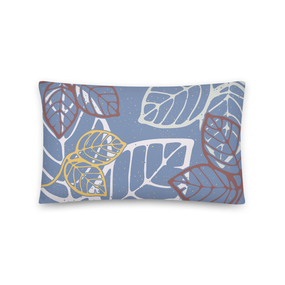 Rectangular pillow tropical leaves -20x12(in)