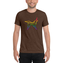 Load image into Gallery viewer, Origami unicorn color men's t-shirt - VARANDA DESIGN