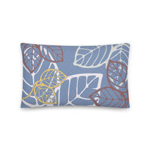 Load image into Gallery viewer, Rectangular pillow tropical leaves -20x12(in)-back
