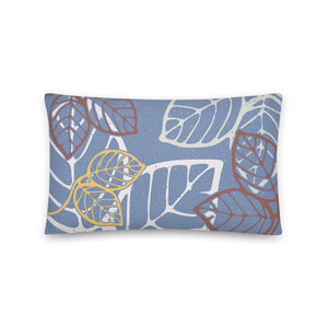 Rectangular pillow tropical leaves -20x12(in)-back
