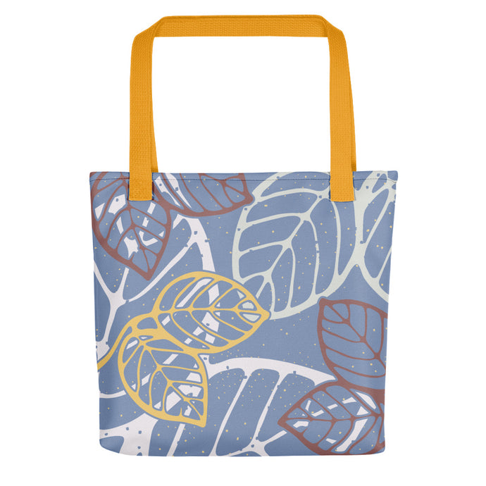 Tote bag new leaves yellow by Varanda Design