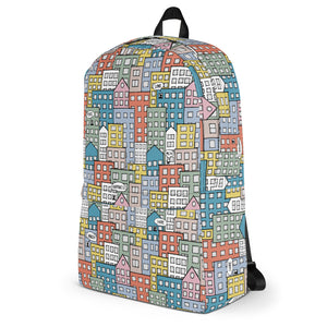 Backpack wishes in the buidings by Varanda Design -left