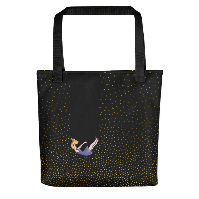 Falling in dots tote bag by Varanda Design - front