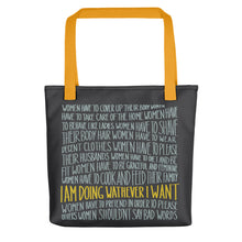 Load image into Gallery viewer, Whatever I want lettering tote bag