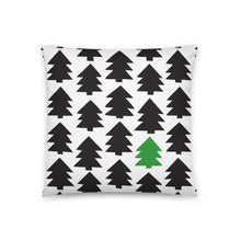 Load image into Gallery viewer, Pillow-christmas-365w-pine-tree-art-18x18(In)-front