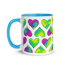Load image into Gallery viewer, Psychedelic hearts color mug