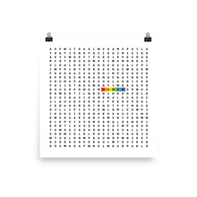 Load image into Gallery viewer, Human lgbtq ally art by Varanda Design - square poster