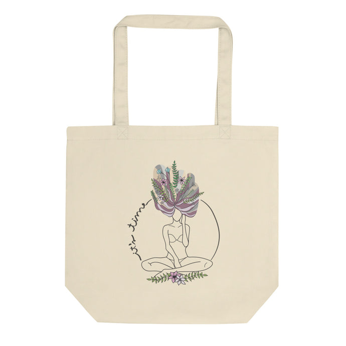 Eco tote bag with the art It's time available at varanda.store