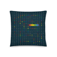 Load image into Gallery viewer, Human LGBTQ ally art by VARANDA DESIGN - pillow 18x18 (In) available on varanda.store