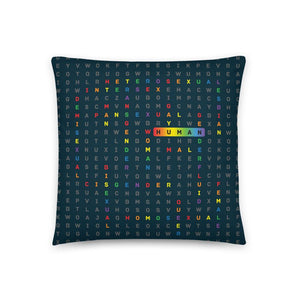 Home decor gift idea for your homossexual friend, the LGBTQ ally pillow 18x18 (In) available on varanda.store
