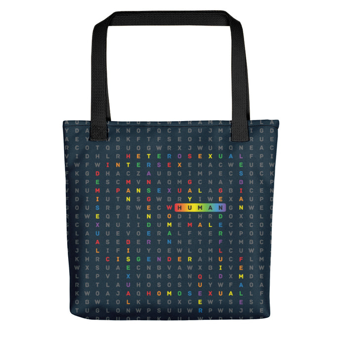 Human LGBTQ ally allover tote bag