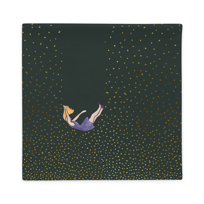 Let me fall pillowcase by Varanda Design - size 22x22in front