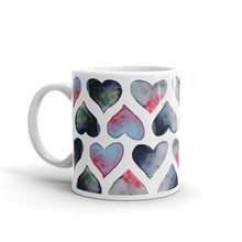 Load image into Gallery viewer, Lovely hearts mug by Varanda design - left