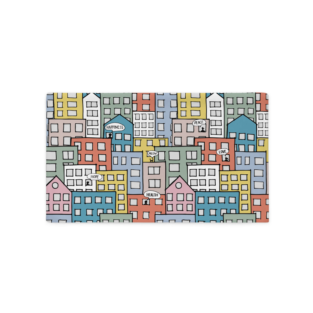 Pillowcase wishes in the city by Varanda Design - 20x12(In)
