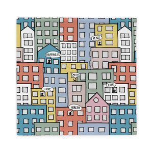Pillowcase wishes in the city by Varanda Design - 22x22(In) back