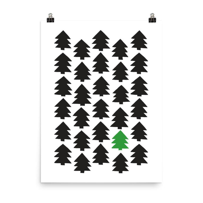 Christmas pine tree art by Varanda Design - poster to use all year long