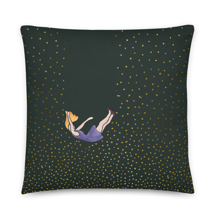 Let me fall pillow by Varanda Design - size 22x22in front
