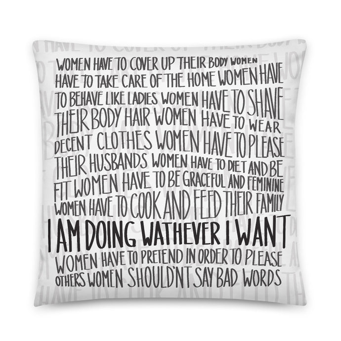 Pillow female empowerment message by Varanda Design - size 22x22(in)