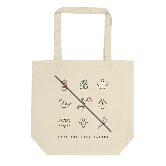 Pollinators square eco tote bag - VARANDA DESIGN
