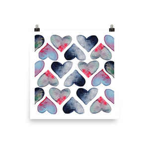 Heartful poster size 18x18in by Varanda Design