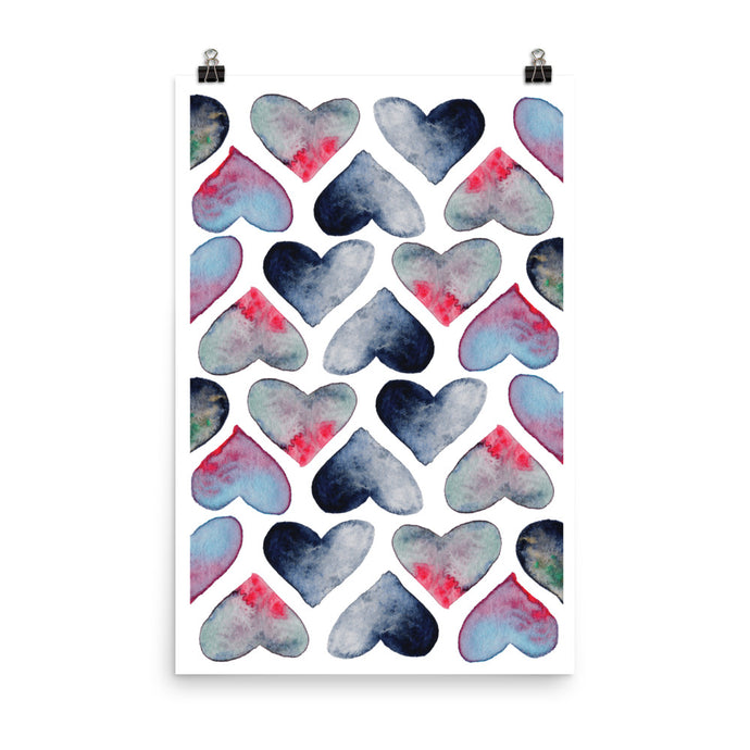 Heartful poster size 24x36in by Varanda Design