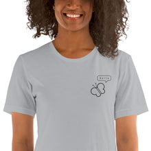 Load image into Gallery viewer, Pollinators hello embroidered ladies' t-shirt - VARANDA DESIGN