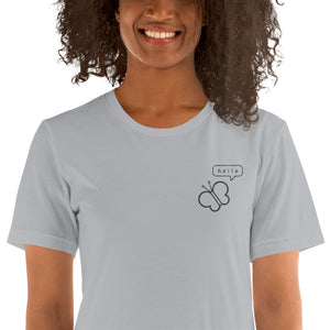 Pollinators hello embroidered ladies' t-shirt - VARANDA DESIGN