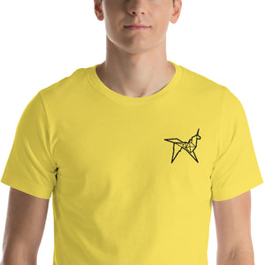 Origami unicorn men's embroidered t-shirt - VARANDA DESIGN