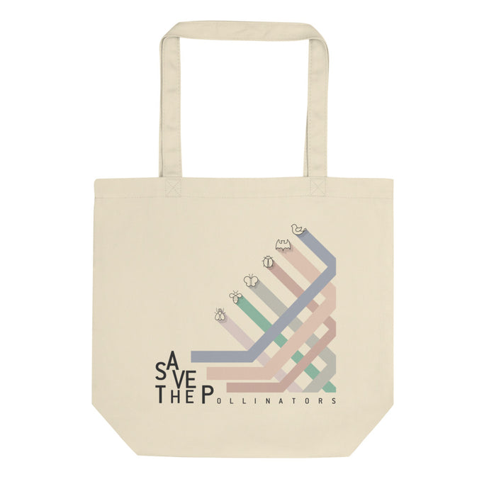 Pollinators stripes eco tote bag - VARANDA DESIGN