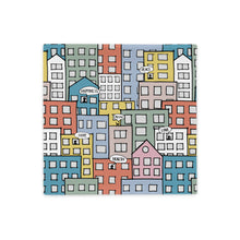 Load image into Gallery viewer, Pillowcase wishes in the city by Varanda Design - 18x18(In) back