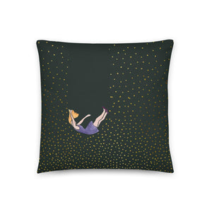 Let me fall pillow by Varanda Design - size 18x18in
