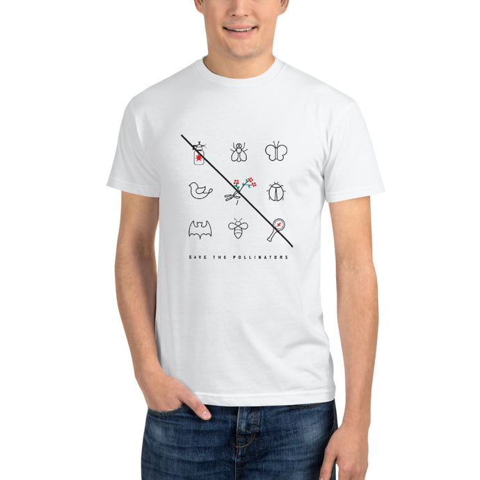 Pollinators square men's eco t-shirt - VARANDA DESIGN
